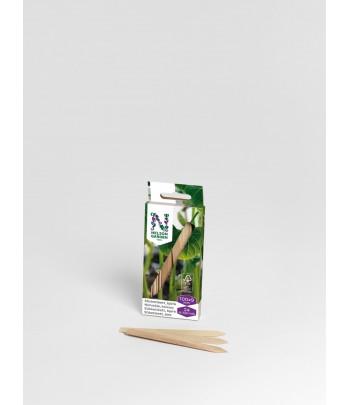 Sticketikett trä 10 cm